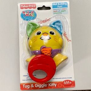 🎉HP 3/31🎉NEW Fisher-Price Tug & Giggle Kitty Toy